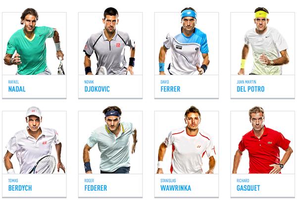 Qualifizierte Spieler der ATP World Tour Finals 2013