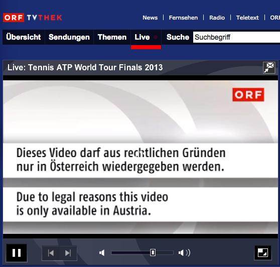 ATP World Tour Finals im Livestream