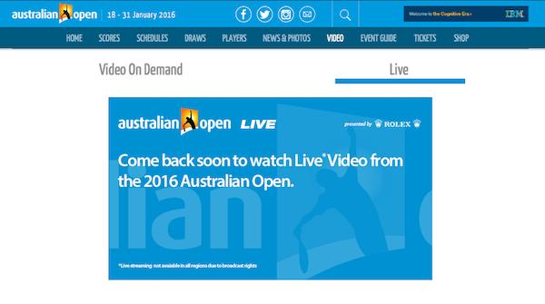 Australian Open 2016 im Live-Stream