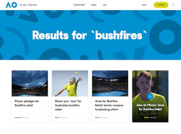 Australian Open 2020 trotz Buschbrände?!