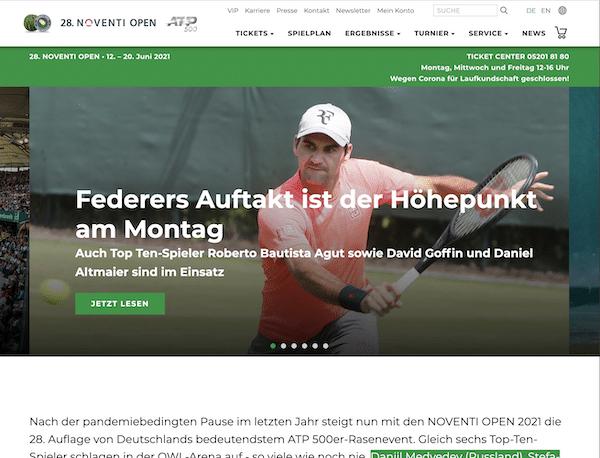 Noventi Open (Halle) 2021 Tennis im Livestream & TV
