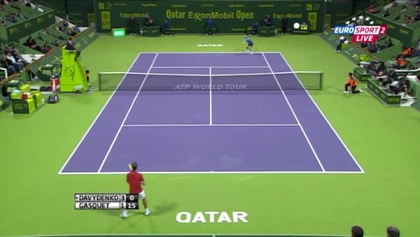 Tennis-Übertragung auf Eurosport