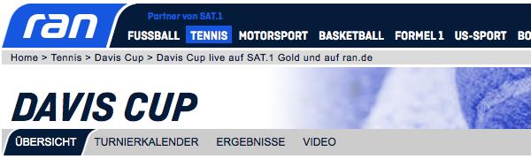 Davis Cup: Deutschland - Frankreich live im Stream, TV