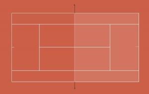 Tennisplatz Spielfläche Doppel