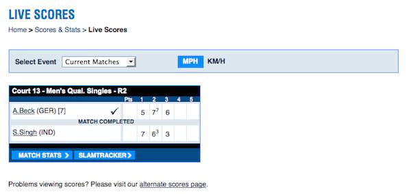 US Open Live-Scores