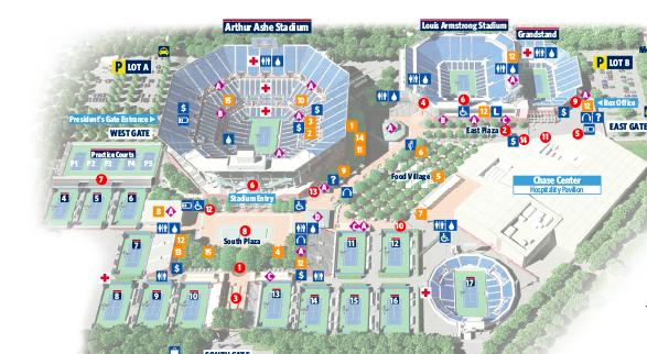 Übersicht der Tennis-US Open