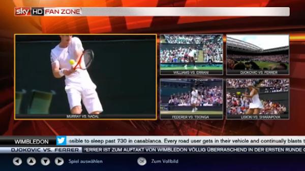 Wimbledon 2014 in der Sky HD Fan Zone