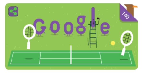 Google Doodle ehrt Wimbledon 2017